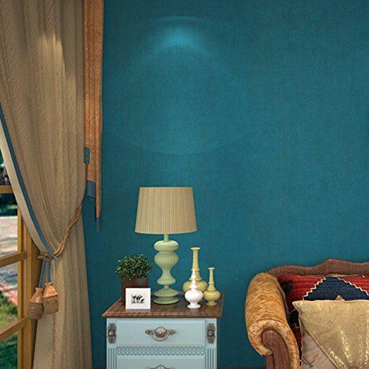 non-tessuto carta da parati/ soggiorno camera da letto TV sfondo muro-carta/Mediterraneo orientale tappezzeria/ sfondo blu scuro di vegano-A