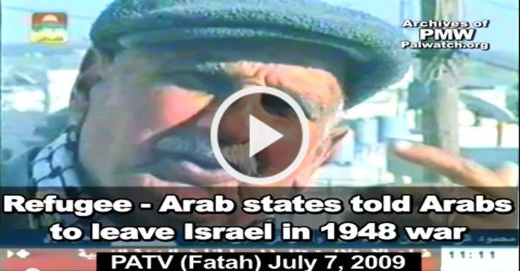 Refugee - Arab states told Arabs to leave Israel in 1948 war A Palestinian man is interviewed on the official Palestinian Authority television station. He... #Jerusalem #PA #TV - http://www.factualisrael.com/refugee-arab-states-told-arabs-leave-israel-1948-war/