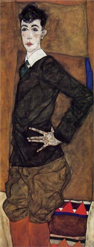 Egon Schiele: Portrait of Erich Lederer