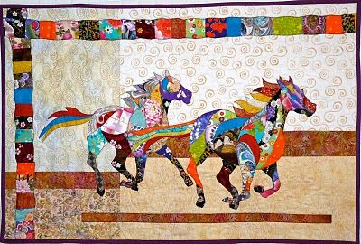 Japanese horse quilt for Chelsea, complete | Feeling Simply Quilty