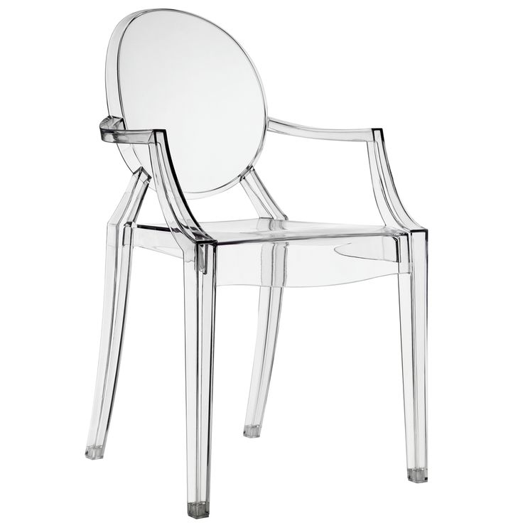 philippe starck style louis ghost chair in clear by lexmod