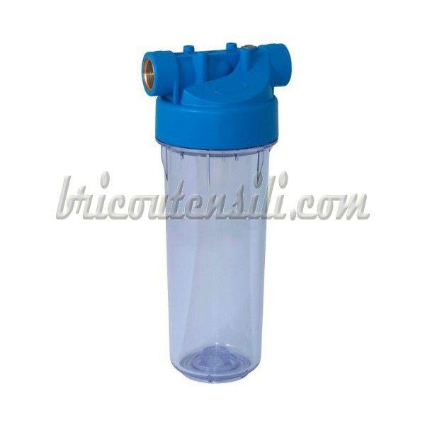 Da montare su alimentazione d'acqua. Filtro 2 pezzi con testa ABS e carter in SAN.