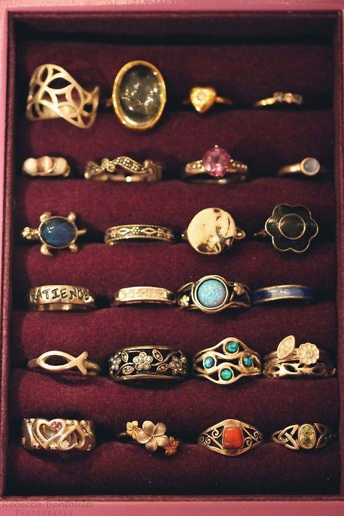 4 rows of cute rings! <3