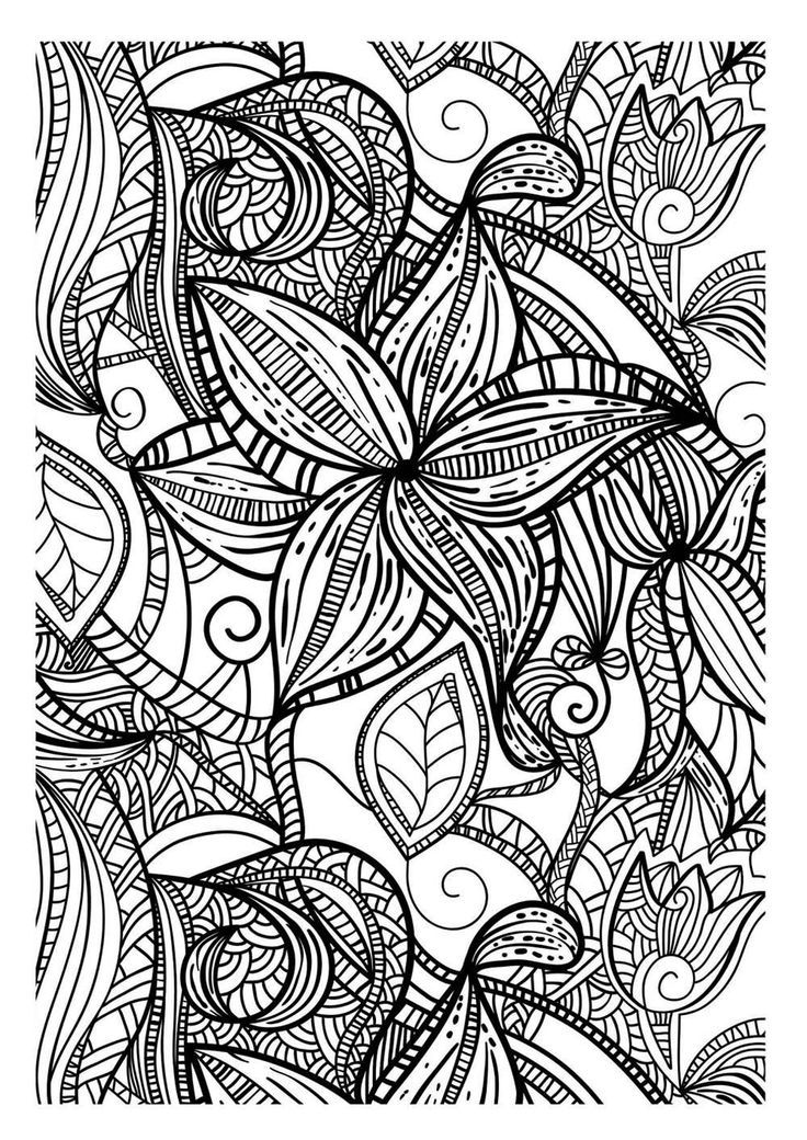 FREE ZENTANGLE STYLE To print this free coloring page
