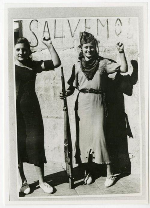 Anarchist militia women in the struggle against fascism, Spanish Civil War 1936-9