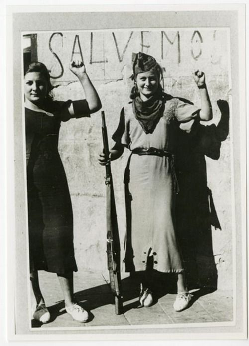 Anarchist militia women in the struggle against fascism, Spanish Civil War 1936-9