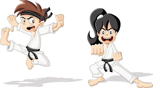 Deporte De Defensa Personal Para Los Niños Karate Kid Karate Dibujos Para Niños