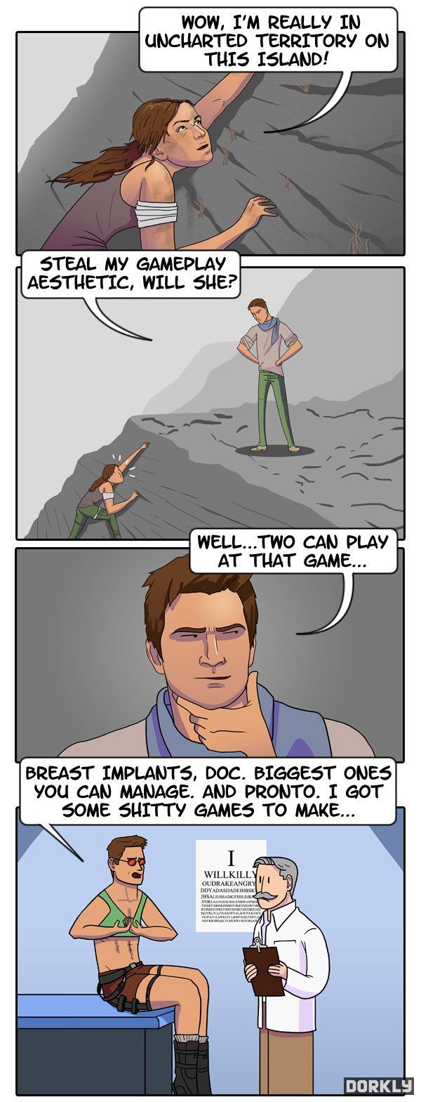 Tomb Raider: Drakes Revenge. Shouldn't have made me laugh like it did.