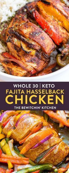 This easy whole30 recipe for fajita hasselback chicken is a clean eating must do! A healthy, high protein, low carb alternative to a dinner favorite is always good in my books. A twist on fajitas with the simplicity of sheet pan chicken. This falls under keto recipes, 21 Day Fix, 80 Day Obsession, and paleo recipe approved. AD #thebewitchinkitchen #whole30chickenrecipes #whole30recipes #ketorecipes #21dayfixrecipes #80dayobsessionrecipes #paleorecipes #healthychickenrecipes…