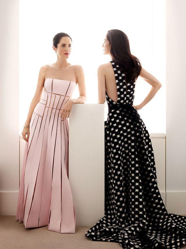 Las hijas de Carolina Herrera. Me gusta el vestido negro!!!