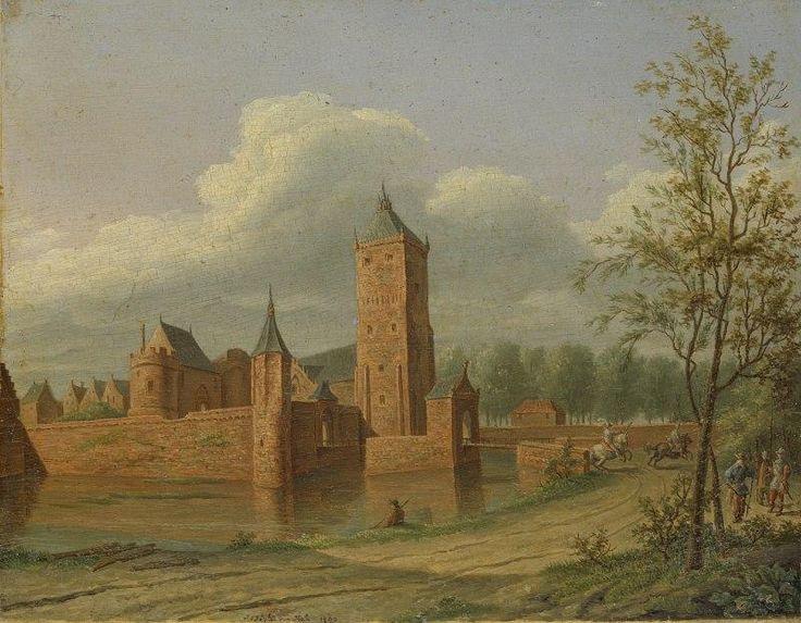 Kasteel Batenstein in Vianen door Jan Jacob Teyler van Hall.