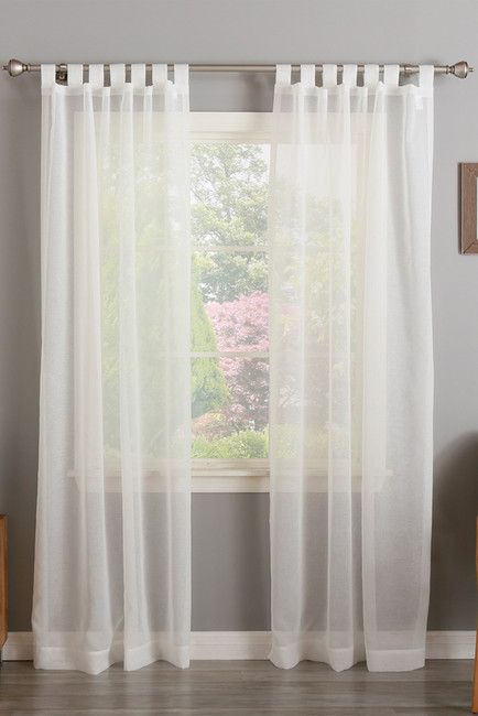 Tab Top Sheer Curtains - Set of 2 - White                                                                                                                                                      More