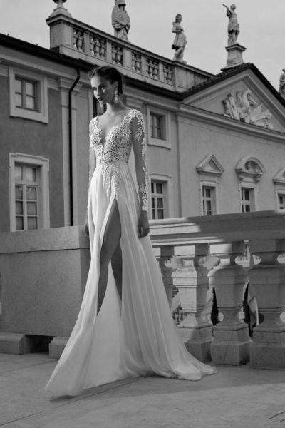 Brautkleider - Weiß Langarm-Spitze Brautkleider - ein Designerstück von okayangel bei DaWanda