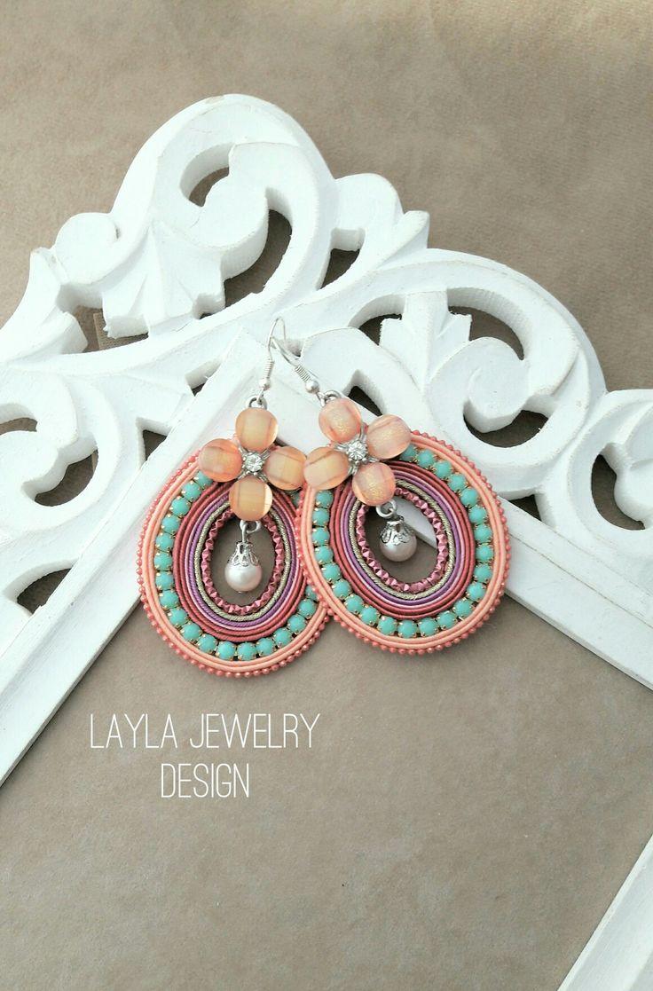 Soutache flower earrings