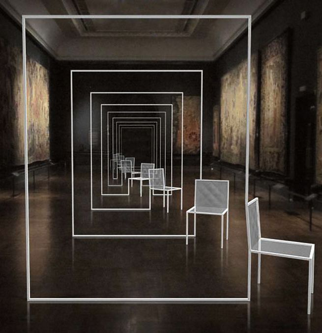 Nendo, mimicry chairs. 2012 - installation at the victoria & albert museum, london