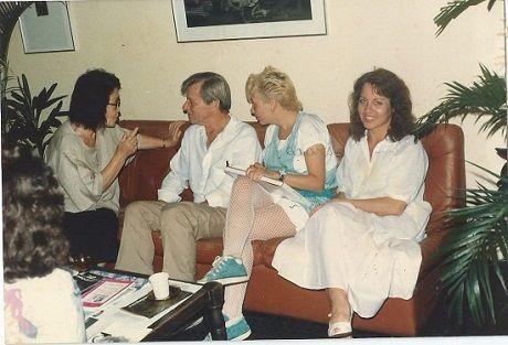 Tomie Ohtake, Harry Laus, eu e Lygia Roussenq, no Masc - Foto: Arquivo pessoal