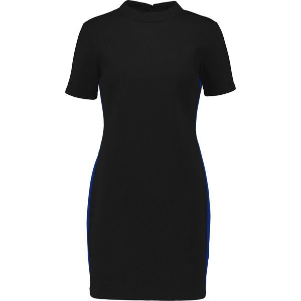 Etre Cecile - Neoprene Mini Dress (€120) ❤ liked on Polyvore featuring dresses, black, neoprene dress, short dresses, animal print mini dress, animal print dress and mini dress
