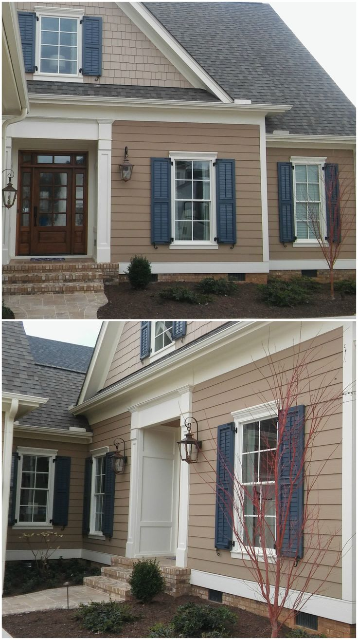 Best 25 exterior shutters ideas on pinterest diy - Pictures of exterior shutters on homes ...