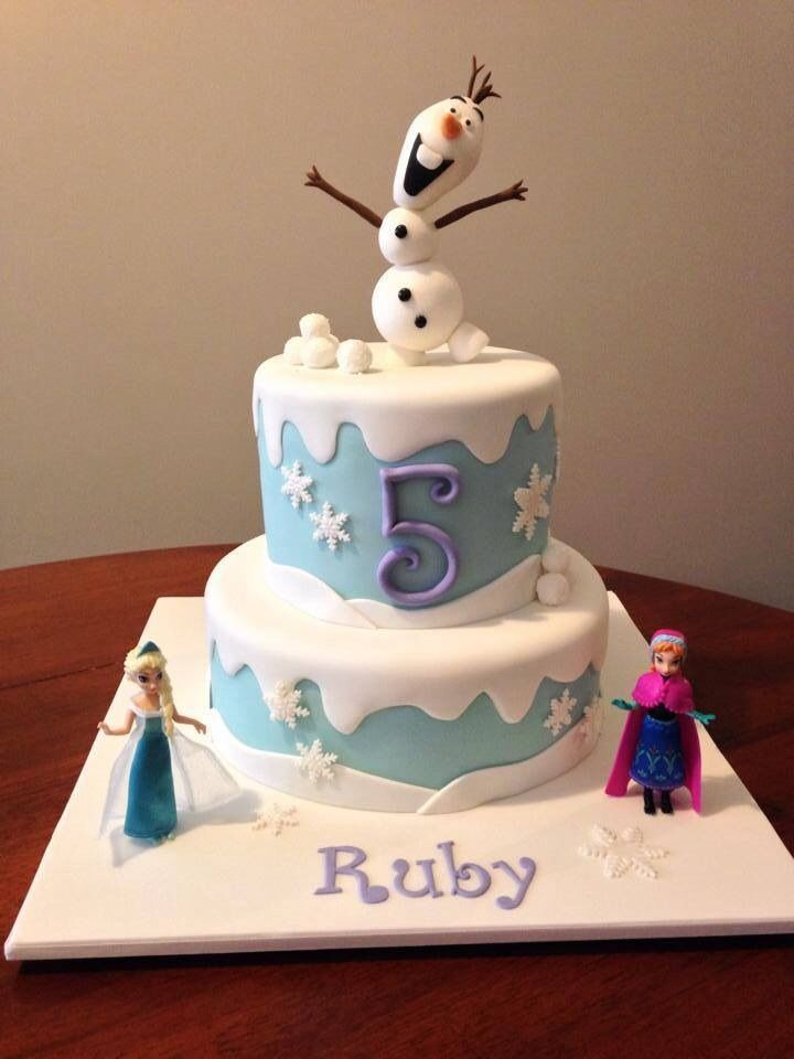 how to make a disney frozen cake
