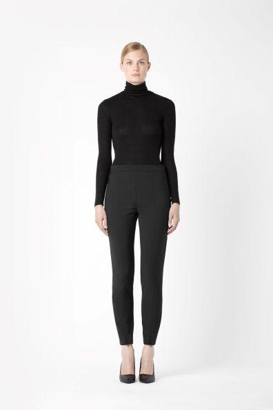 Slim wool trousers