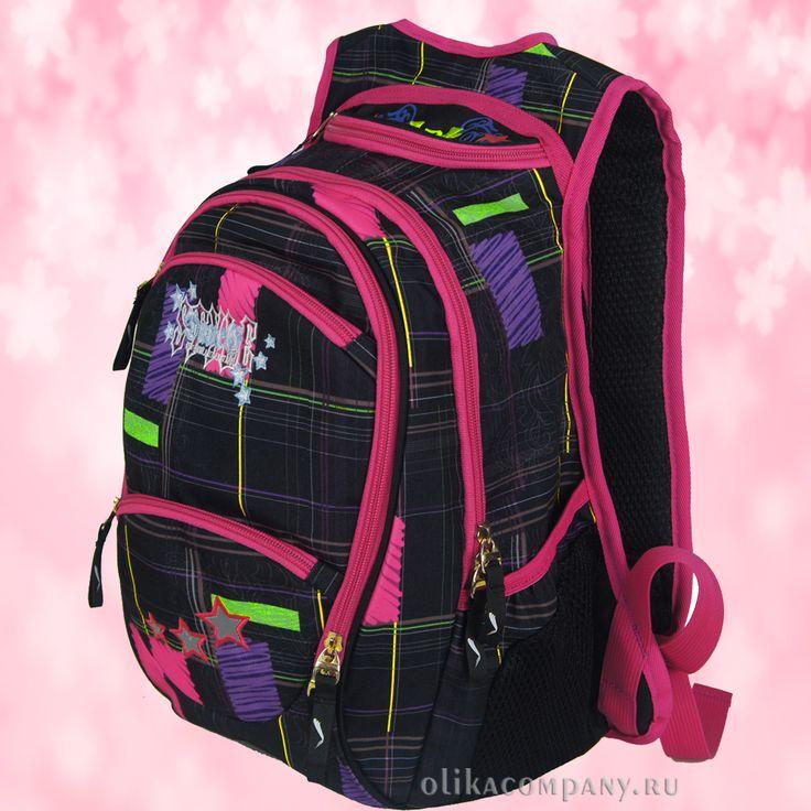 Рюкзак 13357 принт клетка, размеры 26*18*38 см 2000 руб #сумки #рюкзак #учеба #школа