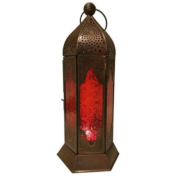 Hanging Candle Lanterns Flower Tower Lantern Wedding: Red Glass Hanging Tower Candle Lantern