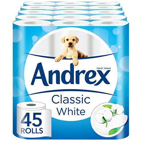 Andrex White Toilet Tissue - 45 Rolls (5 x pack of 9 roll... https://www.amazon.co.uk/dp/B00W18EMWG/ref=cm_sw_r_pi_dp_xReuxb39G1HK9
