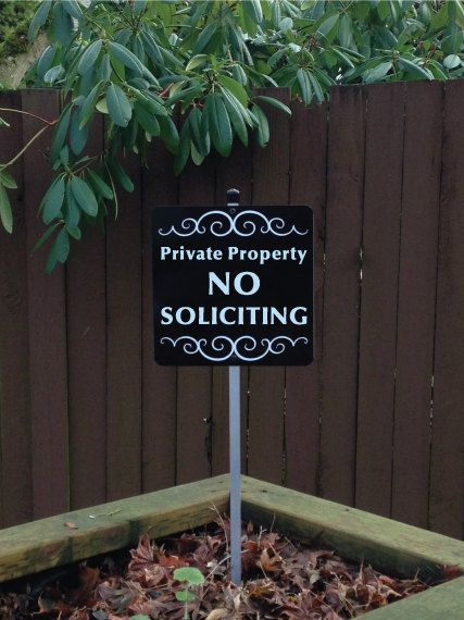 Private Property NO SOLICITING Yard Sign with by SignMachine