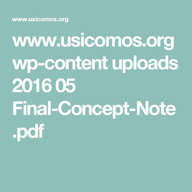 ICOMOS Concept Note for the United Nations Agenda 2030 and the Third United Nations Conference on Housing and Sustainable Urban Development (HABITAT III), 15 Feb 2016