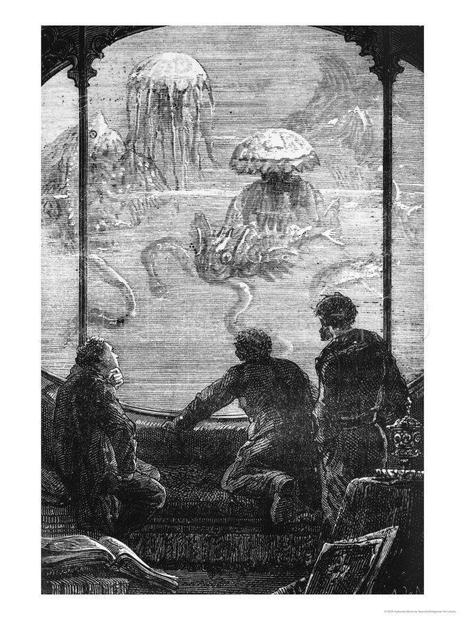 Resultado de imagen de 20000 leagues under the sea illustrations