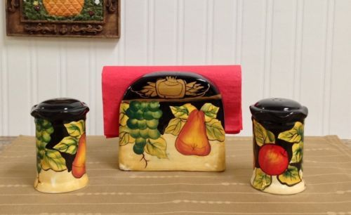 Tuscany-Winter-Fruit-Salt-and-Pepper-with-Napkin-Holder-Tuscan-Collectables
