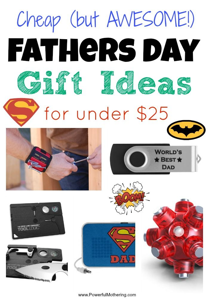 Cheap Fathers Day Gift Ideas for under $25 - I love the range of fathers day gift ideas in here!