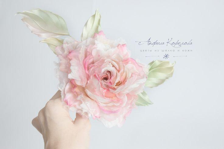 handmade silk flowers by anfisa korelova