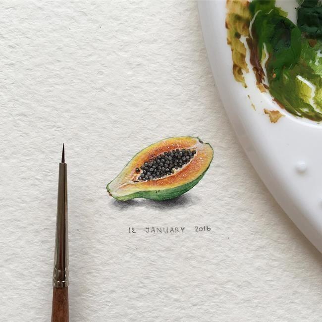 """Hayvanlar Alemi ve Meyveleri Resmeden Sanatçıdan 30+ Çalışma: """"Irene Mia"""" Sanatlı Bi Blog 10"""
