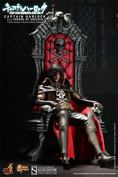 Captain Harlock with Throne of Arcadia | Sideshow Collectibles