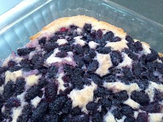 Southern Forager: Totally Awesome Mulberry Cobbler!