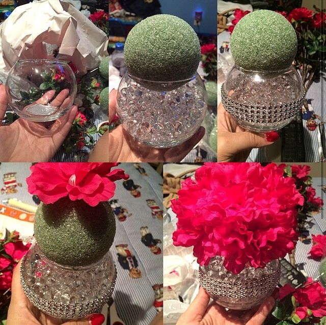 DIY bling centerpiece