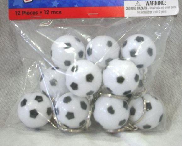 Portachiavi con Palla da Calcio. Gadget per fine festa a tema Soccer. 12 Porta chiavi diam.3 cm. Disponibili da C&C Creations Store