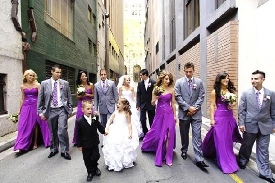 Wedding Party in the alley way