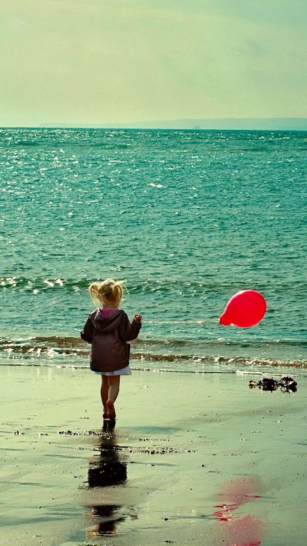 Wallpaper download app for iphone - Beach Girl Red Balloon Iphone 6 Wallpaper Ipod Wallpaper Hd Free Download