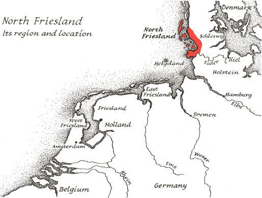Map - North Frisian coast