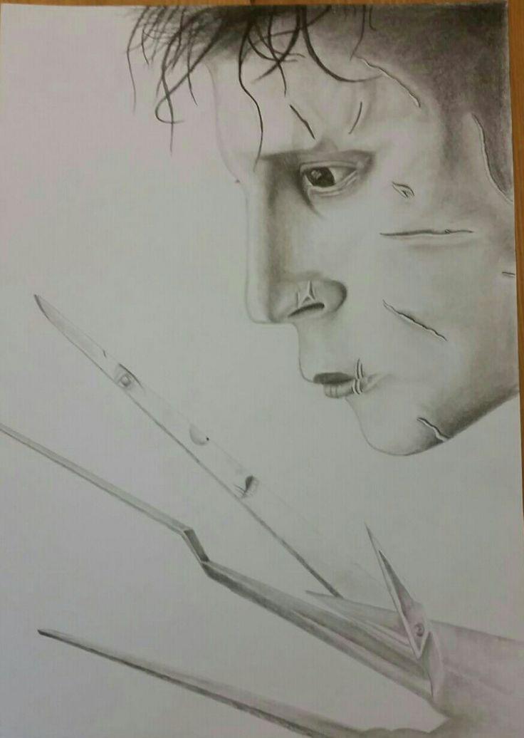 Edward Scissorhands pencil drawing