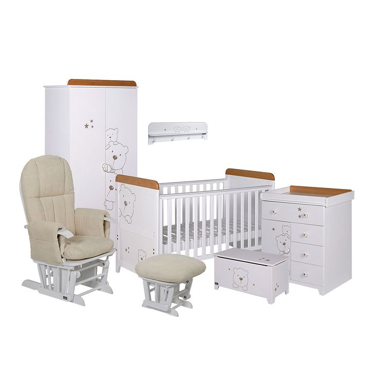 Tutti Bambini Barcelona 7-Piece Nursery Roomset - Beech White - nursery furniture sets - Mothercare