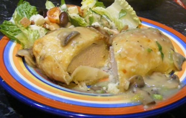 At MCC Banquet Hall we make our Chicken Wellington Topped with Mushroom Duxelle Finish it with a Chablis Cream Sauce. ~ www.mccbanquethall.com