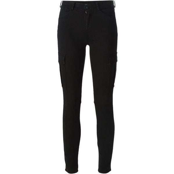 7 For All Mankind Skinny Cargo Jeans ($316) ❤ liked on Polyvore
