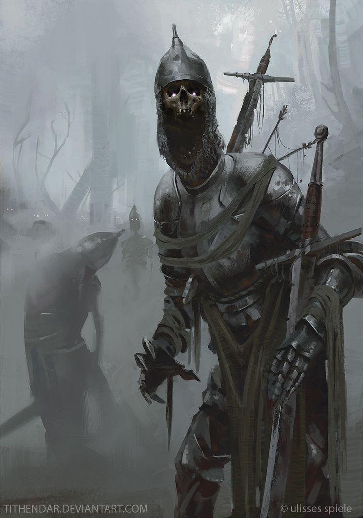 Undead Knights, Axel Sauerwald on ArtStation at https://www.artstation.com/artwork/qBD8y?utm_campaign=digest&utm_medium=email&utm_source=email_digest_mailer