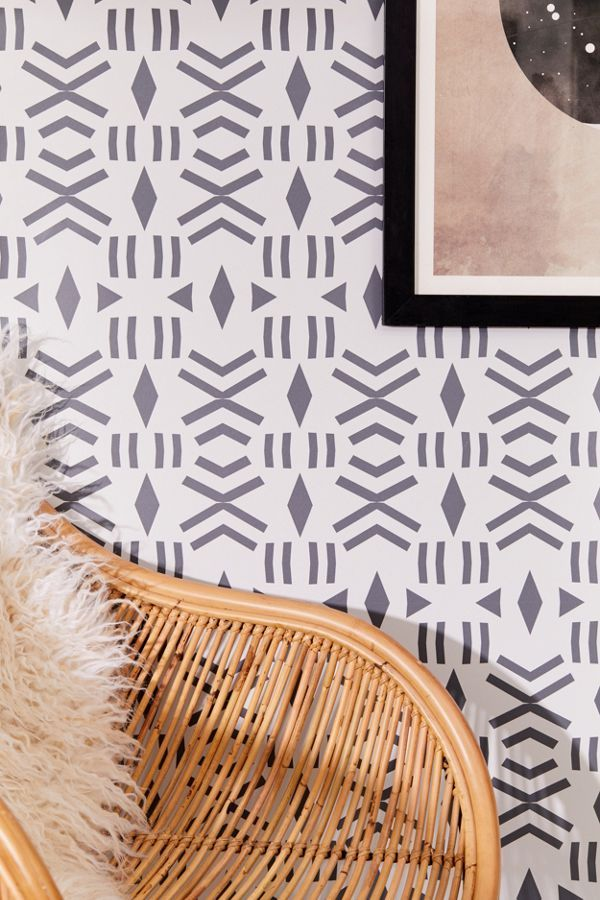 Geo Removable Wallpaper Urban Outfitters Canada Stick On Wallpaper Removable Wallpaper Decal Wall Art
