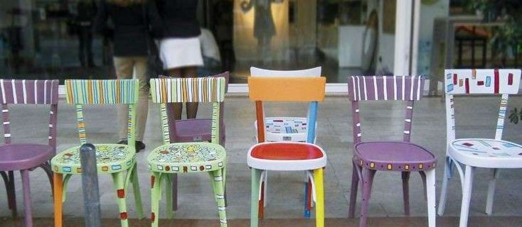 Recupero creativo dei mobili - Sedie dipinte