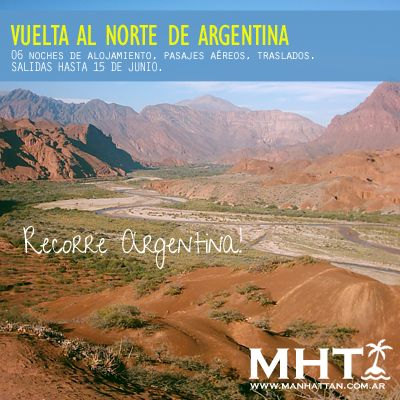 Recorre #Argentina, con este paquete turístico conocé el Norte de nuestro país!