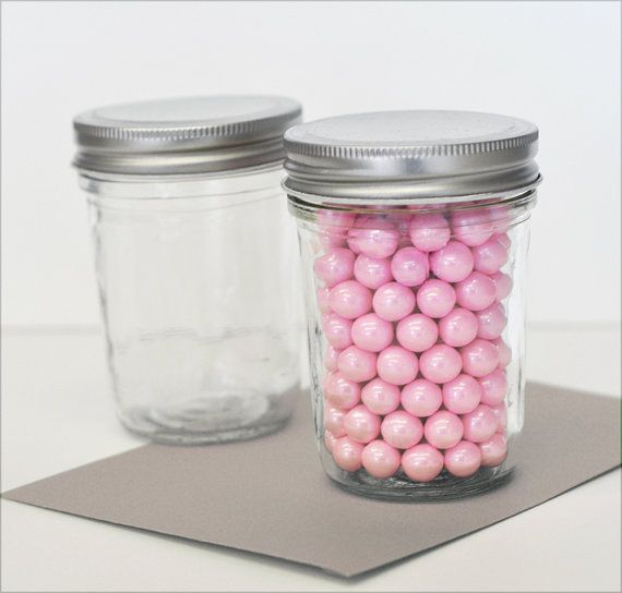Small Mason Jars  Mini Mason Jar Wedding Favors  8 oz by ModParty, $19.00